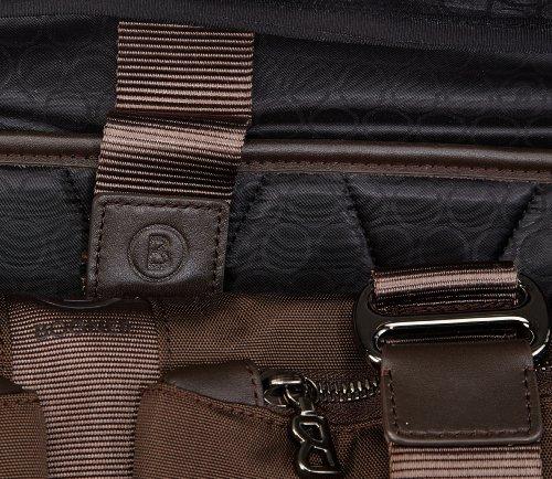 Bogner Leather BLM S 1253830, Borsa messenger unisex adulto, 42x32x10 cm (L x A x P), Nero (Schwarz (black 001)), 42x32x10 cm (L x A x P) Braun (tabak 072)