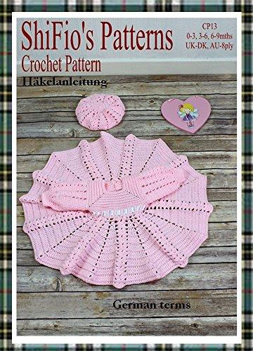 Häkelanleitung - CP13 - Babykleid und Mütze in 3 Größen eBook ...