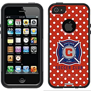 Coveroo Commuter Series Cell Phone Case for iPhone 5/5S - Retail Packaging - Chicago Fire Polka Dots