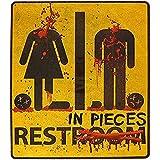 Wandtattoos & Wandbilder Blutige Toilette Zeichen Aufkleber Halloween Spukhaus Und Horror Motto Parteien Badezimmertür Dekoration Abnehmbar