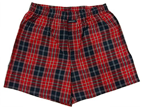 Blacksmith Men's Cotton Boxer Shorts - Red_XXL  available at amazon for Rs.199