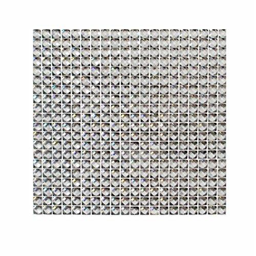 Preisvergleich Produktbild Strass Steine selbstklebend silber 400 Stück 87x87 mm