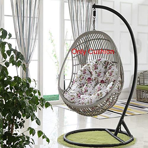 QWERTY Domicile Siège Rond Swing Fauteuil Suspendu Œuf en Résine Tressée (Color : Color, Size : 35x47in)