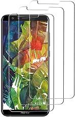 [3 pezzi] Vetro temperato per Huawei Honor 9 Lite,Pellicola Protettiva per Huawei Honor 9 Lite [durezza 9H][resistere ai graffi][Trasparenza ad alta definizione][Niente bolle] - Trasparente