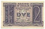Cartamoneta.com 2 Lire Biglietto Stato Fascio LITTORIO tra Rami di Quercia 14/11/1939 FDS-/FDS