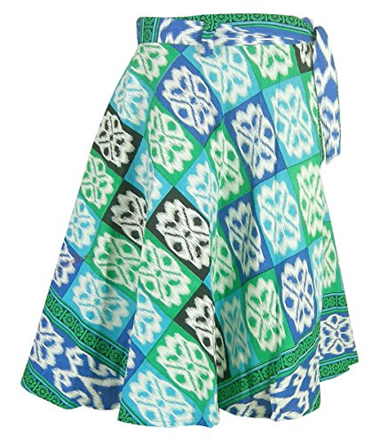 43f9693302b5 Damen Baumwolle Mehrfarbig Gedruckt WickelnRock Indien Kleidung Mehrfarbig4