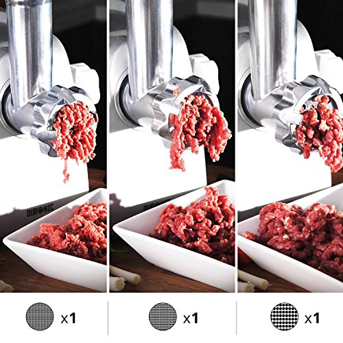 61nxOAD5yyL. SS500  - Duronic MG1600 Electric Meat Grinder | Mincer | Sausage and Kebbe Maker – 1800w Motor with a Stainless Steel Body