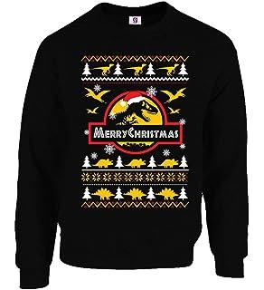 Childrens Jurassic Park Movie Inspired Novelty Christmas Jumper Sweatshirt:  Amazon.co.uk: Clothing