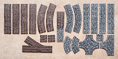 Preisvergleich Produktbild XXL Straßenset strassenset kopfsteinpflaster Gelände Tabletop 15mm 1:100 7cm breit
