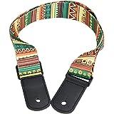Correa de hombro ajustable de ukelele Correa de hombro de 4 cuerdas Hawaii Guitarra de moda Hecho de tela tejida y plástico p