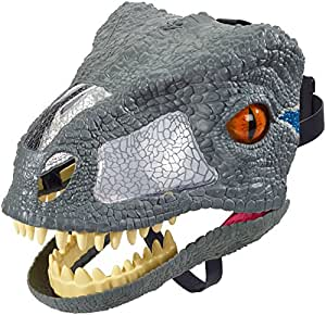 Jurassic World FMB74 Chomp'N Roar Mask Velociraptor, Blue