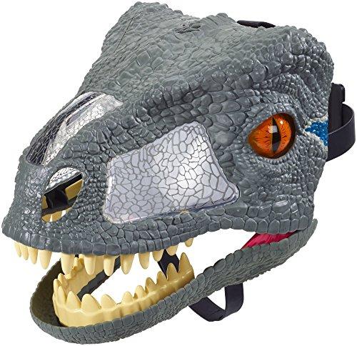 sic World Velociraptor Deluxe Maske, mit Geräuschen, blue (Ebene Maske)