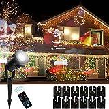 SMITHROAD LED Projektionslampe mit Fernbedienung 12 Verschiedene Muster Lichteffekte für Weihnachten Geburtstag Innen & Außen Garten Wand Beleuchtung