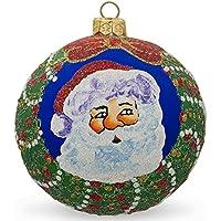 8,3cm Santa Wreath regali palla di vetro di Natale ornamento