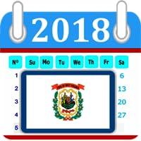 West Virginia Calendar 2018 Holiday