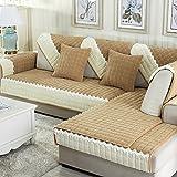 SAFAJINHH Sofaüberwurf,Plüsch Anti-Schleudern Sofabezug Simple Modern Sofaüberwurf-D 90x160cm(35x63inch)
