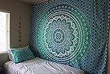 Traditionelle Wandteppich geschenke Weiß Einzigartig Baumwolle Wandbehang 90x90 Tapisserie Floral Gedruckt Von Rajrang