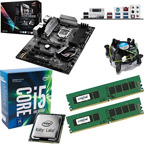 INTEL Kaby Lake Core i5 7600K 3.8Ghz CPU (Turbo 4.2Ghz), ASUS ROG Strix Z270H Gaming Motherboard & 16GB 2400Mhz Crucial DDR4 RAM Pre-Built Bundle