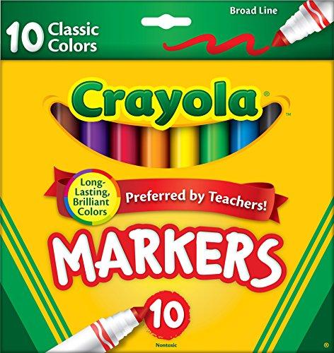 crayola-large-ligne-marqueurs-classic-couleurs-10-pkg