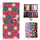 Oenbopo Makeup Palette Wallet Case Bag Cosmetic Matte Eyeshadow Cream Eye Shadow Makeup Palette Shimmer Set 21 Eyeshadow 4 Blusher 1 powder (Pink)