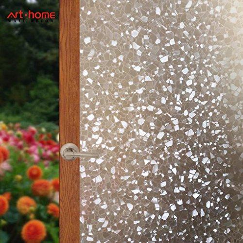Arthome pellicola privacy per finestre,autoadesive pellicola per finestre, smerigliata pellicola per decorativa,anti-uv,controllo di calore,per bagno porta camera da letto cucina ufficio 90cm x 254cm