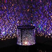 Lámpara LED de noche estrellada, proyector del sistema solar (con cable USB).
