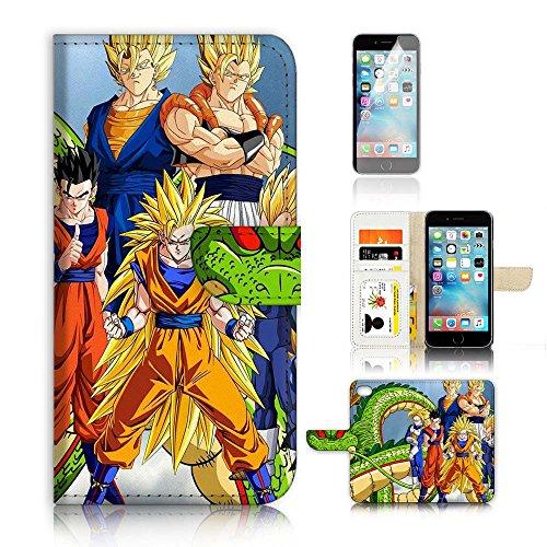 Funda tipo cartera para iPhone 7 y iPhone 8 y protector de pantalla. Bola de dragón A20032
