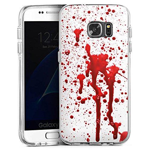 DeinDesign Samsung Galaxy S7 Bumper Hülle Bumper Case Schutzhülle Blut Halloween Gothic