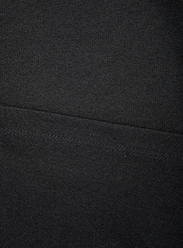 oodji Ultra Damen Jerseykleid mit U-Boot-Ausschnitt Schwarz (2900N)