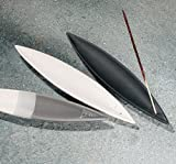 Räucherstäbchenhalter Canoe aus Keramik, Farbe weiss-grau