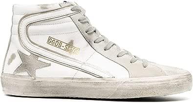Golden Goose Luxury Fashion Uomo GMF00115F00032410276 Grigio Pelle Hi Top Sneakers | Stagione Permanente