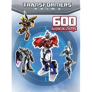 Transformers prime : 600 autocollants et 32 pages de jeux