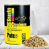 DOGTRAINERS Pute PUR 1 x 160 g gefriervakuum-getrocknete, kleine PUR-Fleisch-Snacks für das Hundetraining und als leckere Belohnung