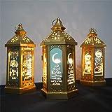 Ramadan Star Lantern LED Decorative Hanging Lantern Ramadan Decorative Lantern Indoor Lantern Battery Lantern Indoor and outd