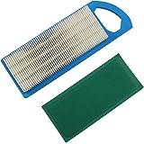 LOCOPOW Luchtfilter & Pre Filter 697015 Cleaner Vervangt voor Briggs & Stratton 4211 4214 5077h 5077K 697153 698083 795115 65
