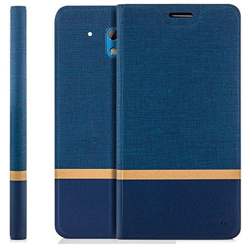 zanasta Tasche kompatibel mit HTC Desire 526G Hülle Flip Case Schutzhülle Handytasche mit Kartenfach Blau