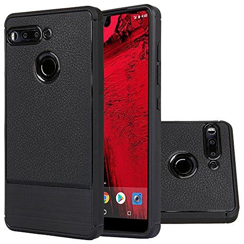 weier Essential Phone Hülle,Flexiblem Silikon Hybrid Ultra Slim (1mm Dicke) Schutzhülle Elastische Schockabsorption Case für Essential Phone Ph-1 Smartphone (Black)