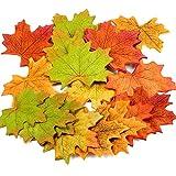(300Stück) Künstliche Ahornblätter, Herbst, als Dekoration für Hochzeiten, Foto-Requisiten, in 6verschiedenen Farben