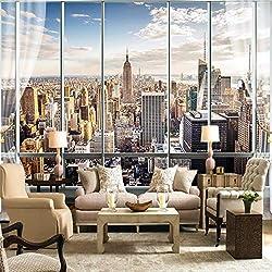 YShasaG Seidenwandbild Benutzerdefinierte Fototapete 3D Stereo Große Wandbilder Moderne Falsche Windows Wohnzimmer Schlafsofa Schlafzimmer Flash Silbertuch Tapete,368cmx254cm
