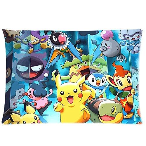 Li Anime Fashion Custom Pokemon Pillow Case Cover 20 x 30 One Side Print Rectangle Pillowcase