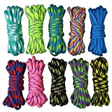 10 Couleurs Paracord Lot DIY 550 Paracorde Bracelet Corde Corde de nylon de...