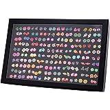 Pendientes para niñas, Comius 100 Pares Hecho a mano Hipoalergénico Color mezclado Cerámica suave Animales Pendientes de botó