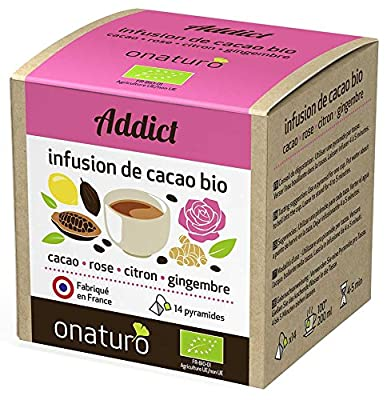 Infusion 100% cacao Rose, gingembre, citron BIO, ADDICT