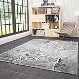 VIMODA Wohnzimmer Teppich Stein Mauer Optik in Grau Sehr Dicht Gewebt Top Qualität 160x230 cm