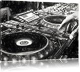 Moderne DJ lumineux effet de dessin au fusain de la console, Format: 80x60 sur toile, XXL énormes Photos complètement encadrées avec civière, impression d'art sur murale avec cadre, moins cher que la peinture ou une peinture à l'huile, pas une affiche ou une bannière,