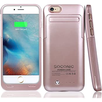 new style 5ea8f 1c699 [With A Screen Protector] iPhone 6 / 6s Battery Case, Soconic 3500mAh  Rechargeable Extended Charging Battery Case for iPhone 6 / iPhone 6s 4.7  inch ...