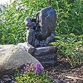 CLGarden Solar Springbrunnen NSP14 mit Akku LED Beleuchtung Gartenbrunnen Kaskadenbrunnen Wasserspiel Solarbrunnen für Garten Balkon Terrasse von CLGarden - Du und dein Garten