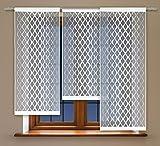 Flächenvorhang kurz, Panel kurz, Schiebevorhang kurz, mit Tunneldurchzug Gardine, Vorhang (120 x 60 cm)