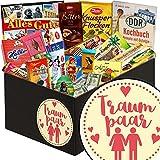Traumpaar ♥ Schokolade Box ♥ Geschenkset ♥ Traumpaar ♥ Schokoladen Paket ♥ mit Halloren, Zetti Knusperflocken, Viba und mehr ♥ inkl. DDR Kochbuch