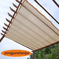 Home Pergola Shade Cover Sunblock Patio Canopy, Beige Rectangle HDPE Permeable Cloth With Grommets, 90% Sunblock & UV Resistant (Size : 1Mx1M)